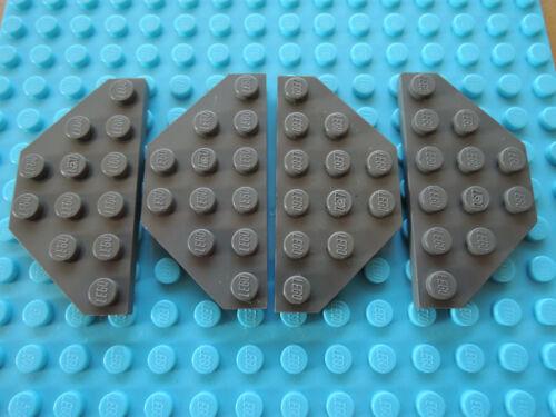 Lego 4 x Platte Flügelplatte 2419   alt dunkelgrau  3x6  7317 6190 6949 10129