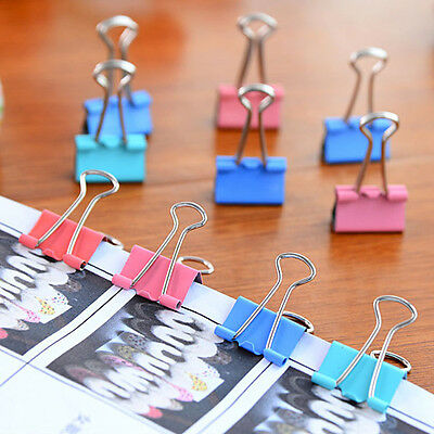 5PCS Colorful Metal Binder Clips Paper Clip 15mm Office Supplies Color at Random