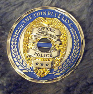 Details about Thin Blue Line - Matthew 5:9 - Law Enforcement Tribute -  Police Challenge Coin