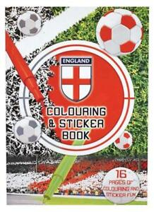 96 England Colouring-Stic<wbr/>ker-Press Out Activity Books