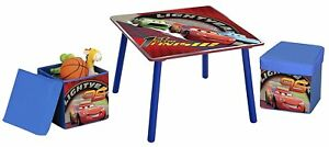 Delta-Children-CARS-Table-and-Ottoman-Set-Children-039-s-Playroom-Furniture-Kids