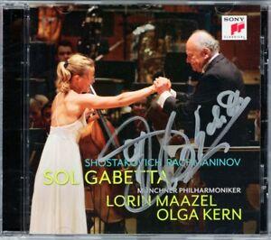 Sol-GABETTA-Signed-SHOSTAKOVICH-Cello-Concerto-1-RACHMANINOV-Sonata-MAAZEL-KERN