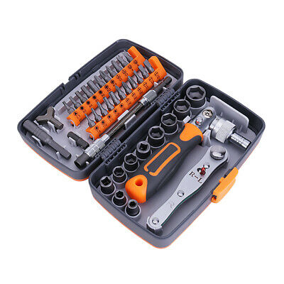 GUOCAO 38pcs Mini Socket Spanner Set Socket Wrench and Screwdriver Tools with Ratchet Handle Wrenches