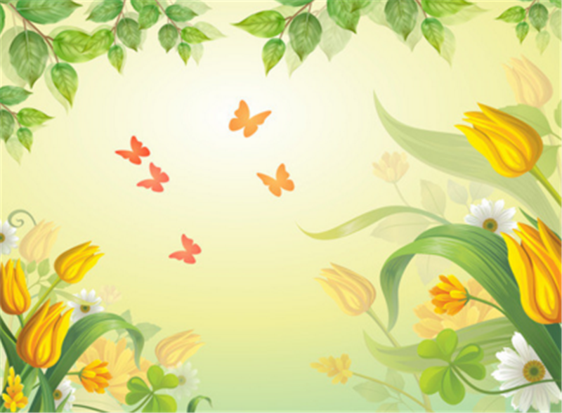 3D 3D 3D Leaves Gelb Tulips 835 Wallpaper Mural Paper Wall Print Wallpaper Murals UK 4149a6