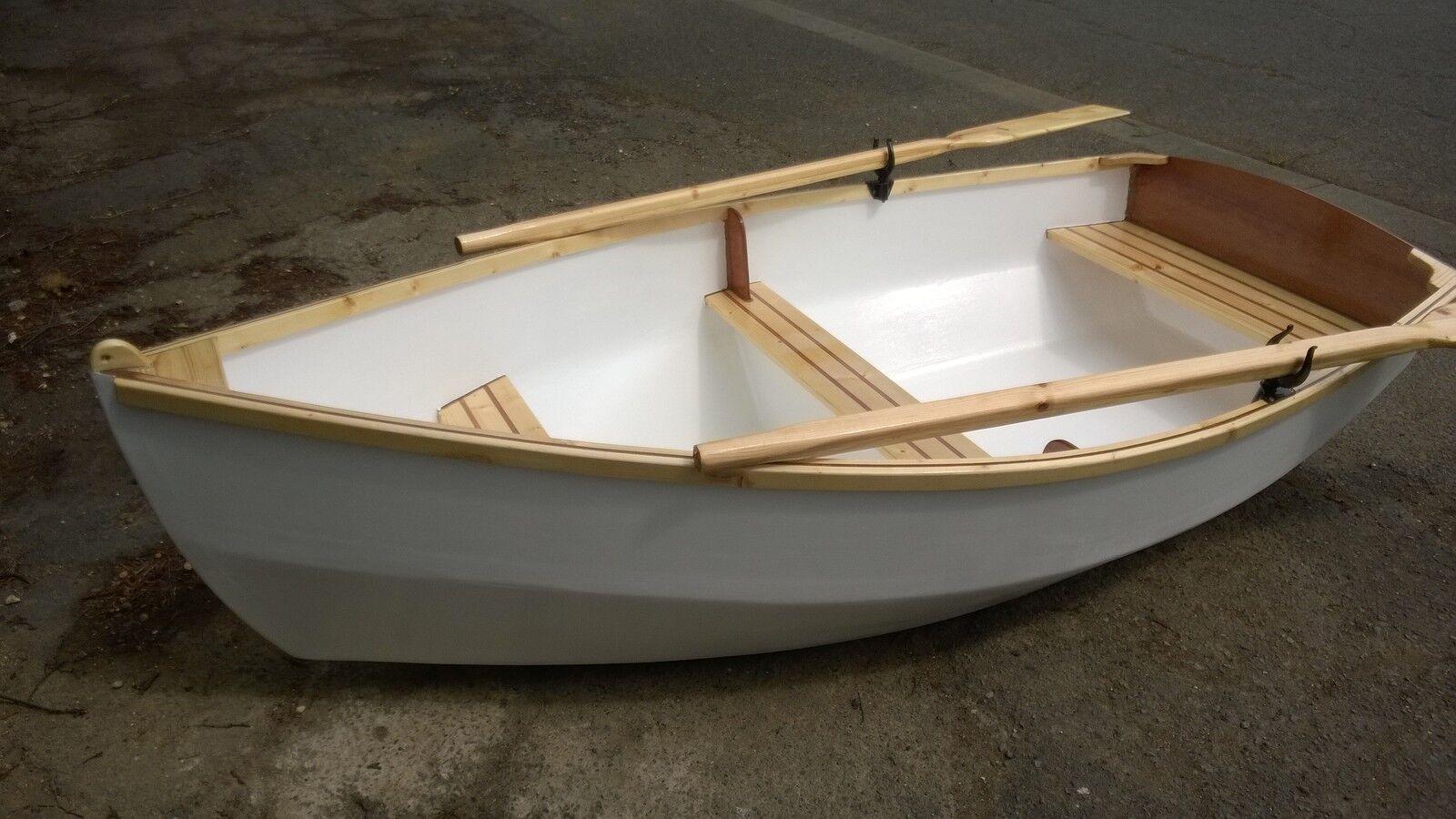 DIY Plans for RYE BAY 228 Rowing Motor Sailing Dinghy - full printed plans