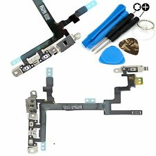 Replacement Power Flex Cable With Brackets Volume Button For iPhone 5 & Tools