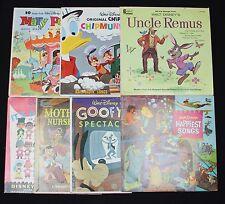 7 Vintage 1960s Disney Disneyland Record Albums Uncle Remus Goofy Small World
