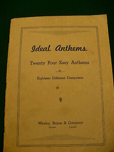 Ideal-Anthems-hymns-religious-vesper-music-amp-words-booklet-24-songs-18-composers