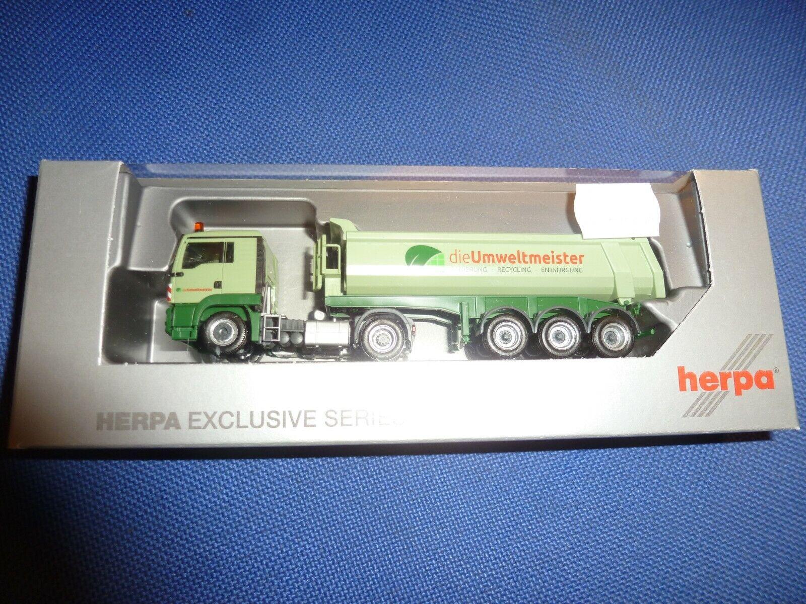 Kühl-KSZ Heide Logistik 121996 Herpa LKW MAN TG-X XXL Aerop