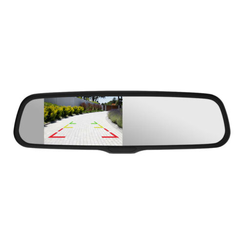 """Momento R1 Car Rear View Mirror with 4.3/"""" LCD Screen Dual Camera Inputs MR1000"""
