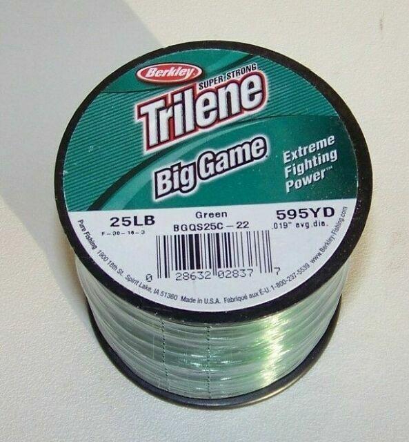 Berkley BGQS25-22 25 Lb Trilene Big Game Mono Line 1//4Lb Spool LoVis Green 10521