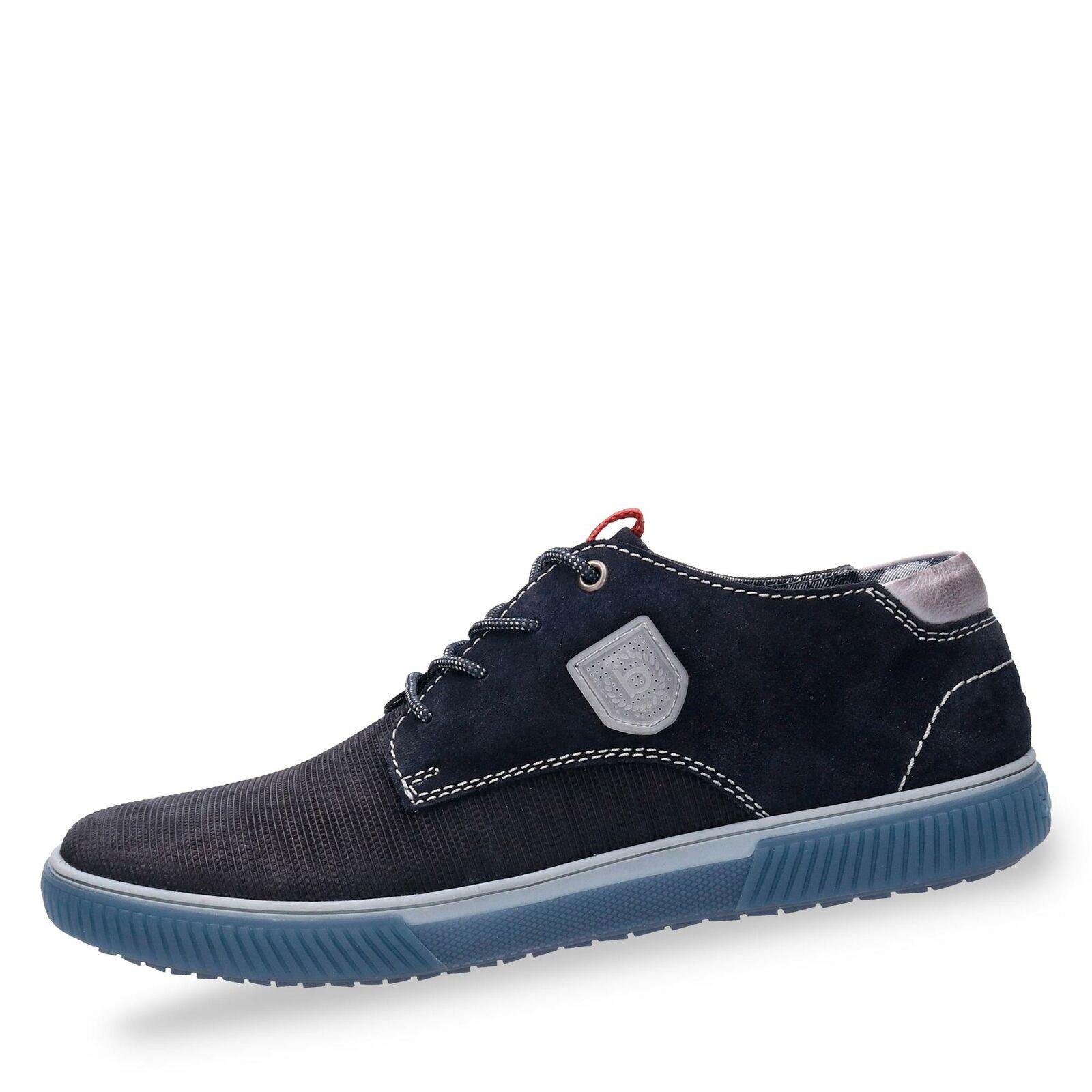 Bugatti Herren Turnschuhe Turnschuhe Halbschuhe Schnürschuhe Freizeit Schuhe blau