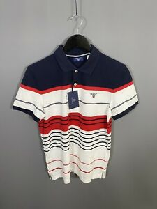 GANT-Polo-Shirt-Size-Small-Striped-New-With-Tags-Men-s