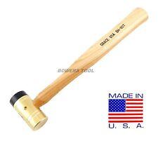 Grace USA 8oz Brass Hammer Delrin Tip Gunsmith Gun Care Machinist Nylon USA MADE