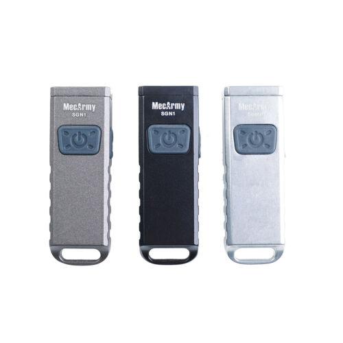 mecarmy Gris SGN1 Zinc Mini Rechargeable USB Keychain EDC Flashlight