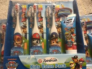Details About Arm Hammer Spinbrush Kids Soft Powered Toothbrush Paste Paw Patrol Chase