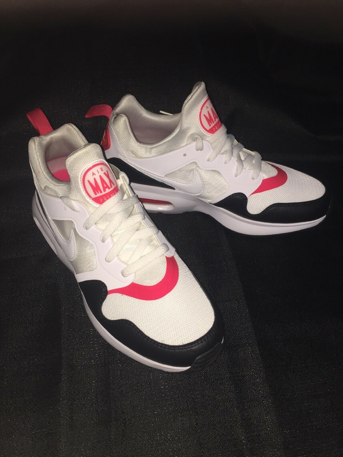 MEN'S NIKE AIR MAX PRIME WHITE/SIREN RED/BLACK SIZE 10
