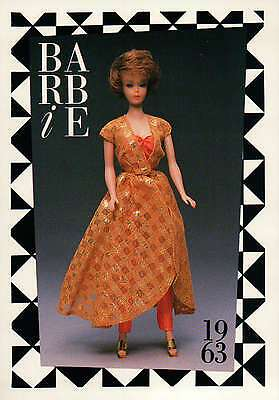 "Barbie Collectible Fashion Trading Card  /"" Senior Prom /""  Green Dress 1963"