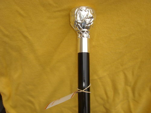 SILVER FROLICKING HORSES CANE//WALKING STICK SILVER R925