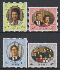 Jersey - 1972, Royal Silber Hochzeit Set - MNH - Sg 81/4