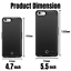 thumbnail 3 - 8000mAh Battery Charger Case Power Bank Cover For iPhone 6 6s 7 8 Plus SE Black