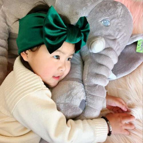 Baby// Girls Kids Toddler Bow Hairband Headband Turban Big Knot Head-Wrap de