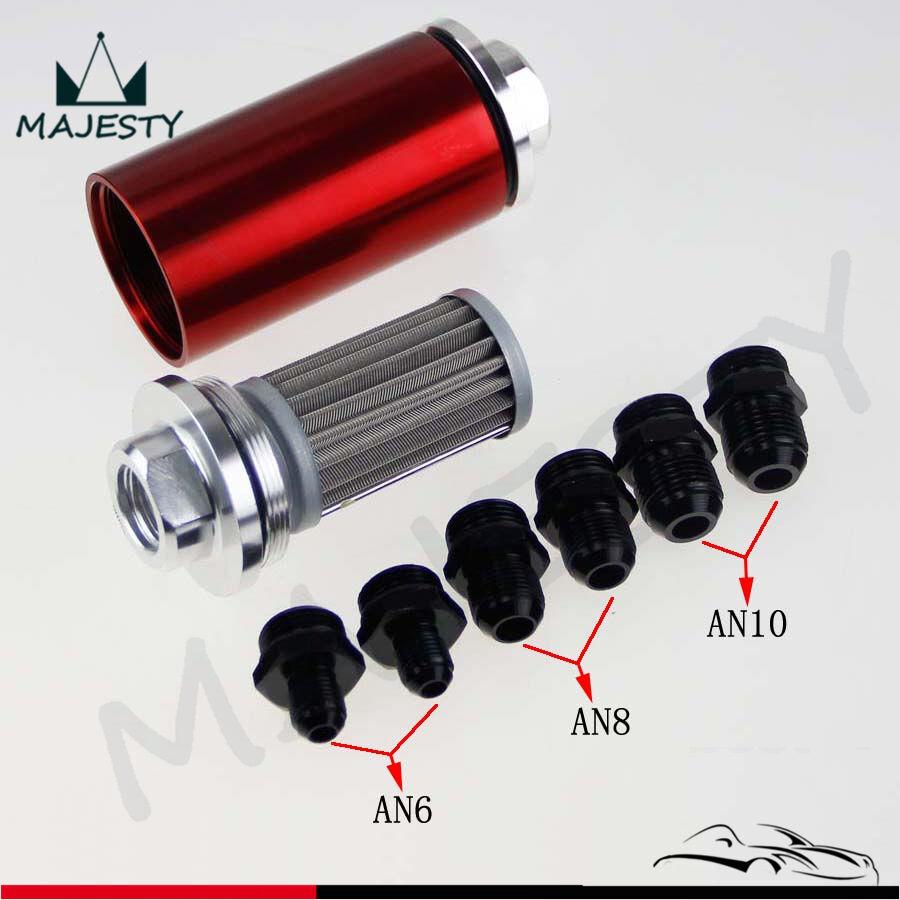 High Flow Universal AN6 AN8 AN10 Aluminum Fuel Filter Motorsport Rally Autograss