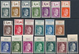 SALE Stamp Germany Mi 781-98 Sc 506-23 1941 WW2 3rd Reich Hitler Heads Tops MNH