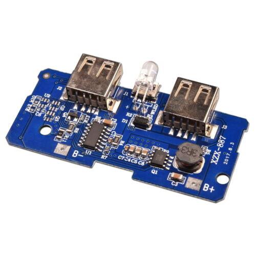 5V 2A+1A Doppelt USB Handy Schaltregler Netzteil Modul Mobile Power Bank Charger
