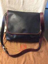 ENRIQUE LOEWE KNAPPE Vintage Black & Brown Leather Hobo Shoulder /Crossbody Bag