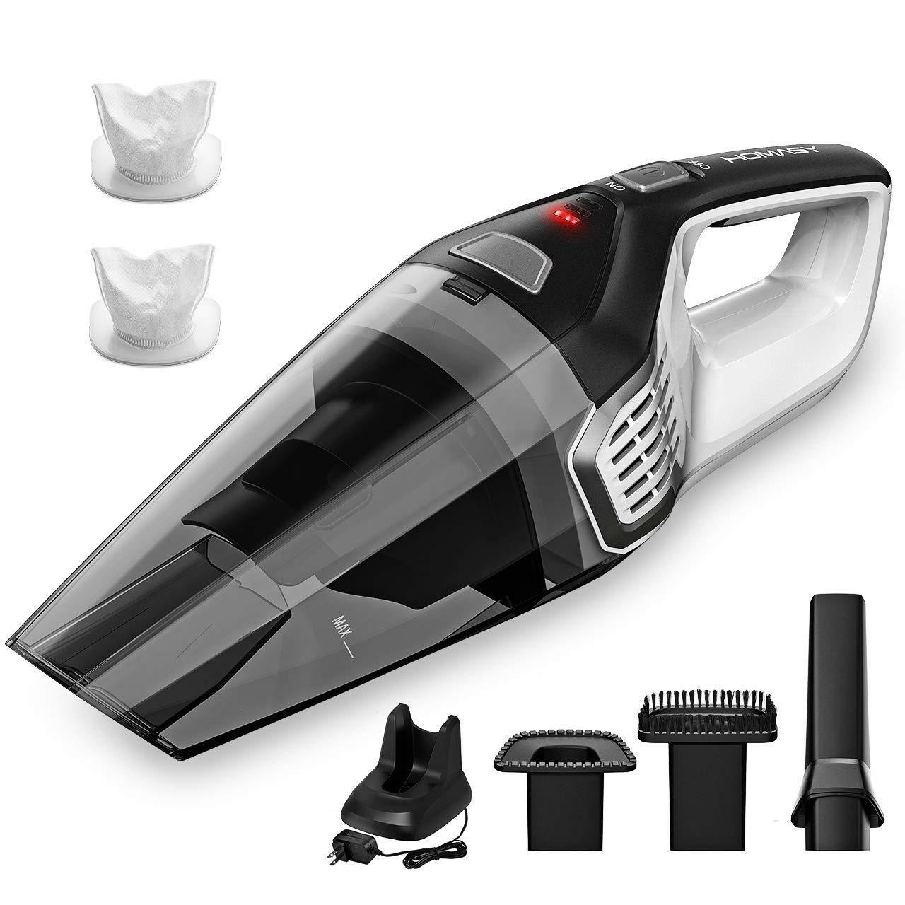 Homasy Portable Handheld Vacuum Cleaner, 6KPA Powerful Cyclonic Suction Vacuum