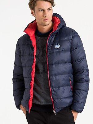 Men's Jacket Jacket NORTH SAILS REVERSIBLE HOODED Navy Blue Winter 2018 | eBay
