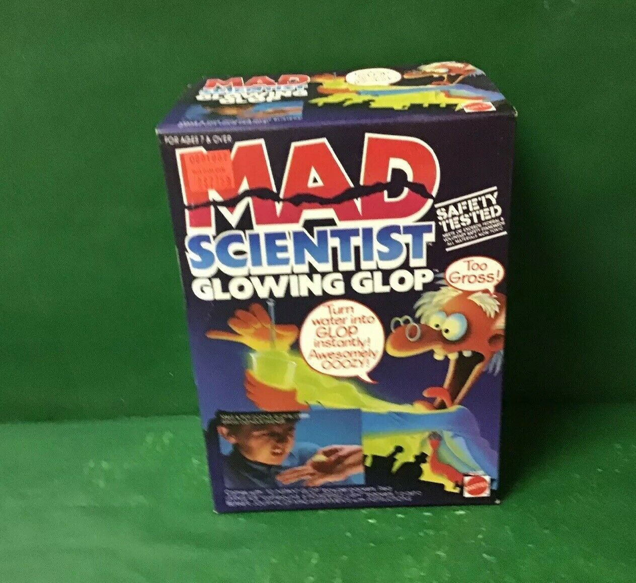 "1986 MAD SCIENTIST ""GLOWING GLOP"" NIB By Mattel"