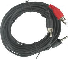 2 Stück Stereo Audio Cinchkabel 5m AVK118500 ordenliche Standardware Cu kein CCA