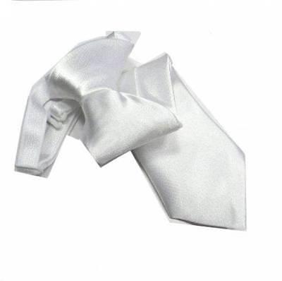 Dolce Cravatta Bianca Bambino Paggetto Bianco Per Bambini Dai 18 Ai 36 Mesi Elastico
