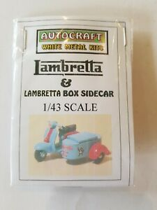1/43 Scale 7mm O Gauge 1960s Lambretta Scooter Box Sidecar 'lambretta' Metal Kit