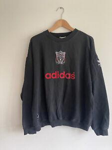 Rare Vintage Liverpool 90s Adidas Football Sweatshirt XL