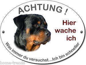 Folie-warnschild-hundeschild Haustierbedarf Rottweiler-hund-alu-schild-20 X 15 Cm-3 Mm Dick Od Türschilder