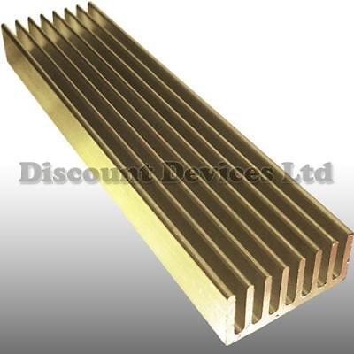100x25x10mm Aluminium Heat Sink Processor/Power Transistor/IC/FET/PA/Supply