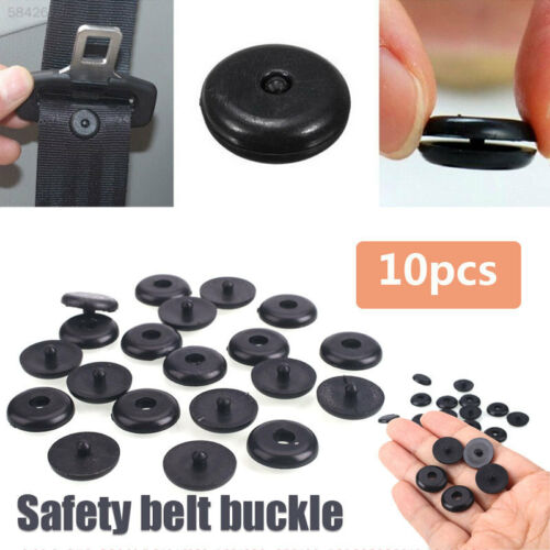 10x Seat Belt Stopper Buckle Buttons Holders Studs Retainer Pin Clips Universal