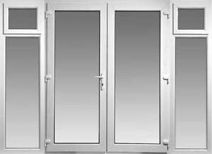 Upvc french doors with side panels and 2 openings 2400mm x 2100mm with glass ebay - Reasons may want switch upvc doors windows ...