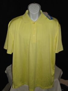 Nwt Golf Smith Dry 18 Snake Eyes Solid Yellow Poly S S Polo Shirt Sz