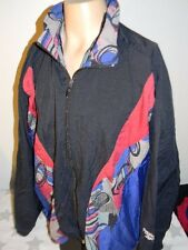 vtg 80s REEBOK hooded multicolor nylon windbreaker jacket men's XL hip hop
