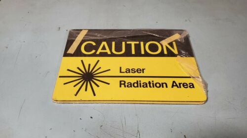 Laser Radiation Area Caution Sign with adhesive tape 2 Pack 10in x 7in