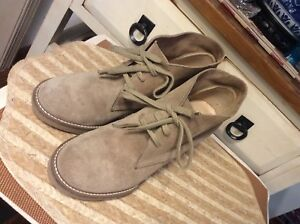 b25d30828cd J Crew Tan Suede Leather Ankle Boots Heels Lace Up Womens Size 7 ...