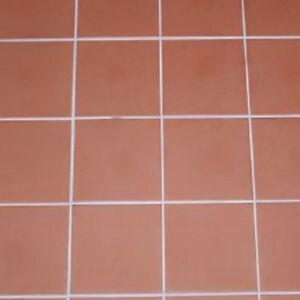 RED QUARRY ITALIAN, FROST- PROOF FLOOR TILES 15 x 15cm JOB LOT OF 10 ...
