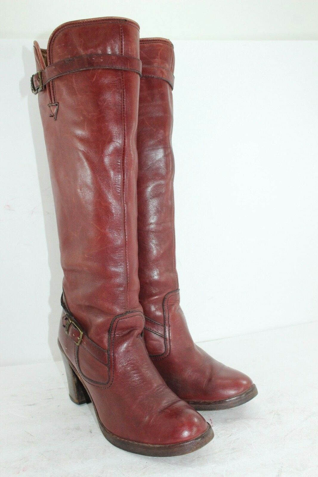 ZODIAC BOOTS MADE IN USA SZ 8.5 M BROWN IN GREAT CONDITION ALL LEATHER