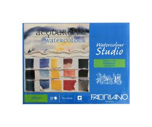 FABRIANO-Aquarellblock-24x32-cm-200-g-qm-Aquarellpapier-4-seitig-geleimt