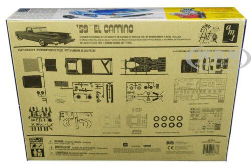 SKILL 2 MODEL KIT 1959 CHEVROLET EL CAMINO 2 IN 1 KIT 1//25 MODEL BY AMT AMT1058