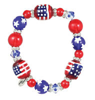 Clementine Design Kate & Macy All For America Usa Glass Beaded Jewelry Bracelet